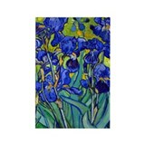 Van Gogh - Irises 1889 Rectangle Magnet