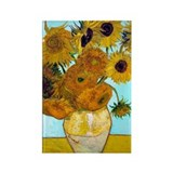 Van Gogh - Sunflowers Rectangle Magnet