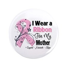 "Mother Breast Cancer 3.5"" Button"