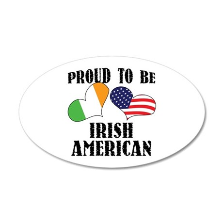 Proud Irish American 38.5 x 24.5 Oval Wall Peel