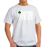 grey cotton shamrock T-Shirt