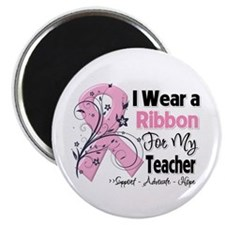 "Teacher Breast Cancer 2.25"" Magnet (10 pack)"