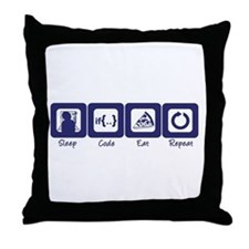 Sleep- Code- Eat- Repeat Throw Pillow
