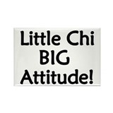 Little Chi, Big Attitude Rectangle Magnet (100 pac