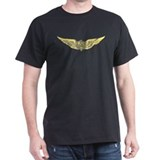"RC Aviation ""Gold Wings"" Black T-Shirt"