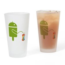 Cute Android Drinking Glass