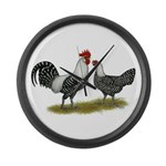 Brakel Chickens Large Wall Clock