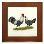 Brakel Chickens Framed Tile