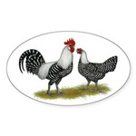 Brakel Chickens Sticker (Oval 50 pk)