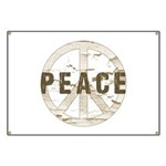 Distressed Peace Banner