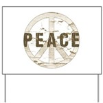 Distressed Peace Yard Sign