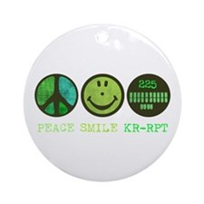 Peace Smile 225 Ornament (Round)