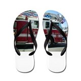 Fire Truck Flip Flops