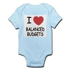 I heart balanced budgets Infant Bodysuit