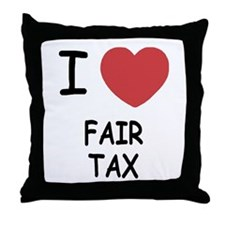 I heart fair tax Throw Pillow