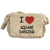 I heart squaredancing Messenger Bag