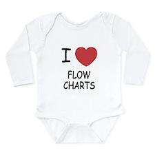 I heart flow charts Long Sleeve Infant Bodysuit