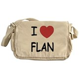 I heart flan Messenger Bag