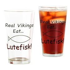 Vikings Eat Lutefisk Drinking Glass