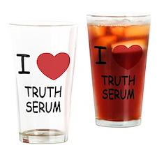I heart truth serum Drinking Glass