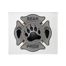 Bear Pride Firefighter Badge Throw Blanket