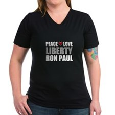 Ron Paul Peace Love Liberty Shirt