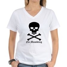 """No Mumbling"" Steno Skull Black, Front Only Women'"