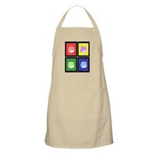 Vivid Pop Art Cats BBQ Apron