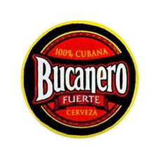 "Cuba Beer Label 5 3.5"" Button (100 pack)"