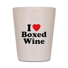 Boxed Wine Shot Glass
