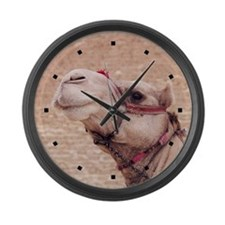 Egyptian Camel Photo Large Wall Clock