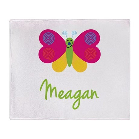 Meagan The Butterfly Throw Blanket