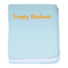 Trophy Husband Valentine baby blanket