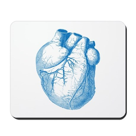 Valentines Vintage Heart Illustration Mousepad