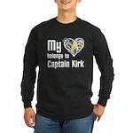 My Heart Belongs to Captain Kirk Long Sleeve Dark