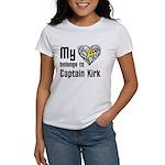 My Heart Belongs to Captain Kirk Women's T-Shirt