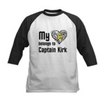 My Heart Belongs to Captain Kirk Kids Baseball Jer