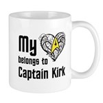My Heart Belongs to Captain Kirk Mug