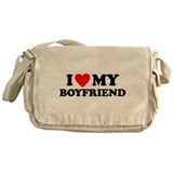 I LOVE My Boyfriend Messenger Bag