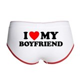 I LOVE My Boyfriend Women's Boy Brief
