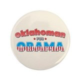 "Oklahoman For Obama 3.5"" Button (100 pack)"