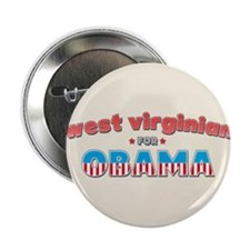 "West Virginian For Obama 2.25"" Button (100 pack)"