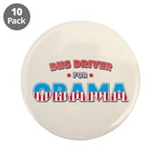 "Bus Driver For Obama 3.5"" Button (10 pack)"