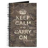 Keep Calm and Carry On camo v Journal