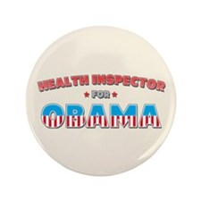 "Health Inspector For Obama 3.5"" Button (100 pack)"