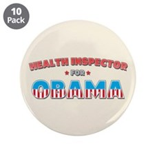 "Health Inspector For Obama 3.5"" Button (10 pack)"