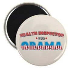 "Health Inspector For Obama 2.25"" Magnet (10 pack)"