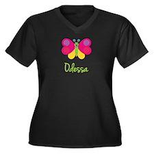 Odessa The Butterfly Women's Plus Size V-Neck Dark
