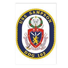 USS Sampson DDG 102 Postcards (Package of 8)