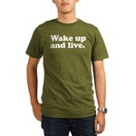 Wake up and live Organic Men's T-Shirt (dark)